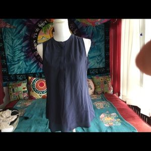 Blue sleeveless blouse . Only worn 2x